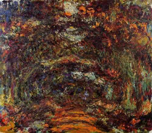 The Path under the Rose Arches, Giverny, 1918-1924 by Claude Monet