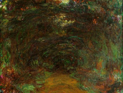 The Path under the Rose Trellises, Giverny, 1920-1922 by Claude Monet