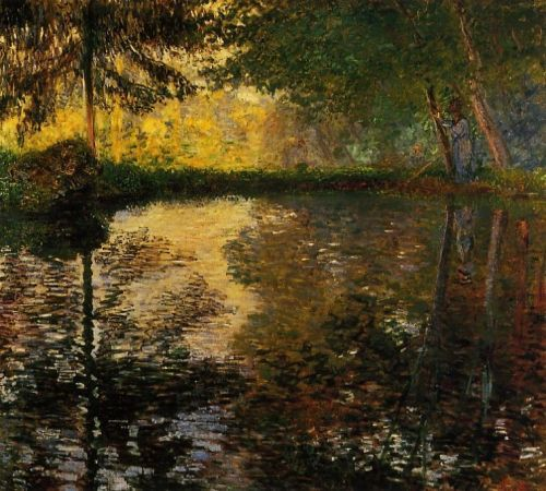 The Pond at Montgeron, 1876-1877 by Claude Monet