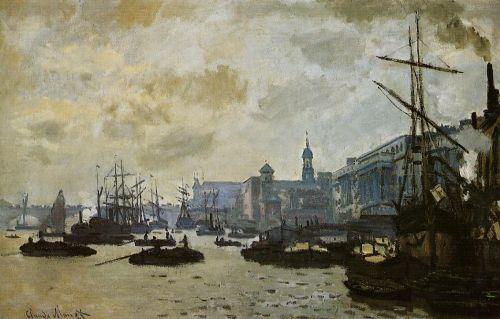 The Port of London, 1871 by Claude Monet