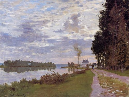The Promenade at Argenteuil, 1872 by Claude Monet