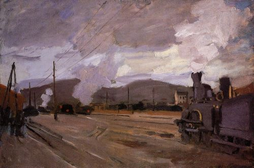 The Railroad Station at Argenteuil, 1872 by Claude Monet