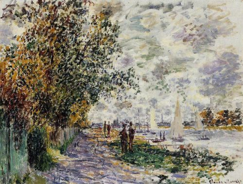 The Riverbank at Petit-Gennevilliers, 1875 by Claude Monet