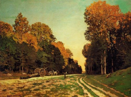 The Road from Chailly to Fontainebleau, 1864 by Claude Monet