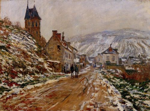 The Road in Vetheuil in Winter, 1879 by Claude Monet