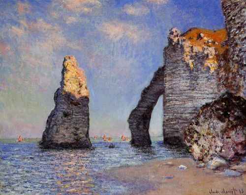 The Rock Needle and the Porte d'Aval, 1885 by Claude Monet