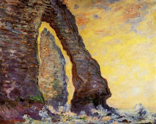 The Rock Needle Seen through the Porte d'Aval, 1885-1886 by Claude Monet