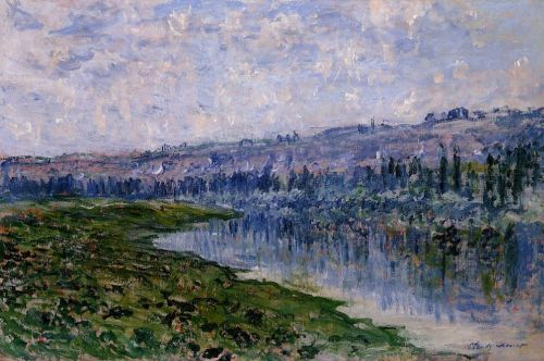 The Seine and the Chaantemesle Hills, 1880 by Claude Monet