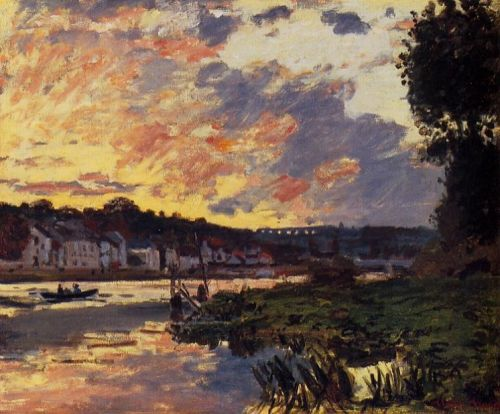The Seine at Bougeval, Evening, 1870 by Claude Monet