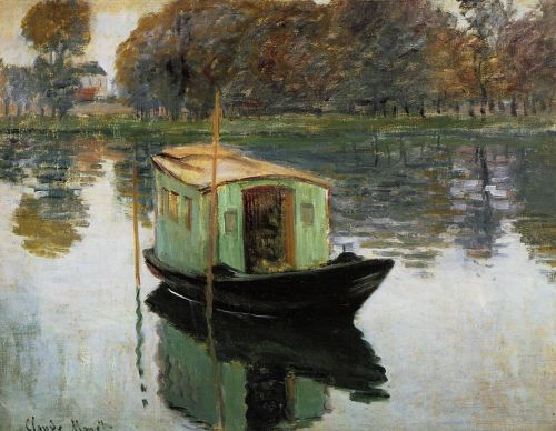 The Studio Boat, 1874 by Claude Monet