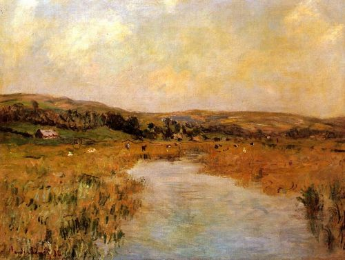 The Valley of the Scie at Pouville by Claude Monet