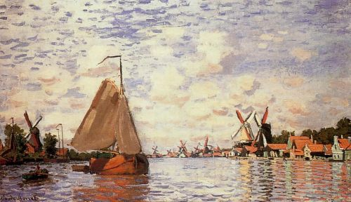 The Zaan at Zaandam, 1871 by Claude Monet