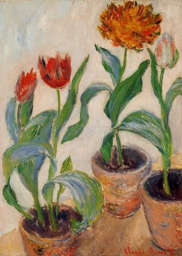 Three Pots of Tulips, 1882 by Claude Monet