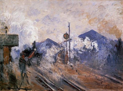 Track Coming out of Saint-Lazare Station, 1887 by Claude Monet