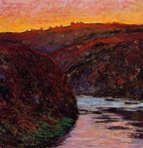 Valley of the Creuse, Sunset, 1889 by Claude Monet