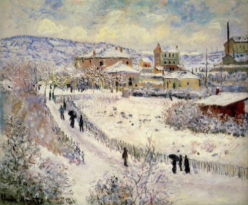View of Argenteuil in the Snow, 1875 by Claude Monet