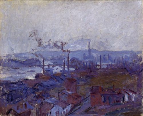 View of Rouen from the Cote Sainte-Catherine, 1892 by Claude Monet