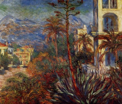 Villas at Bordighera 1, 1884 by Claude Monet
