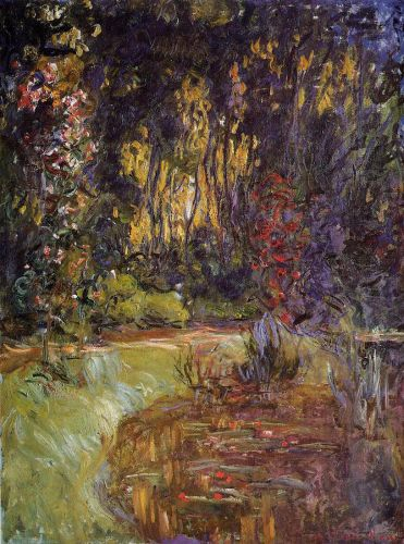 Water-Lily Pond at Giverny, 1918 by Claude Monet