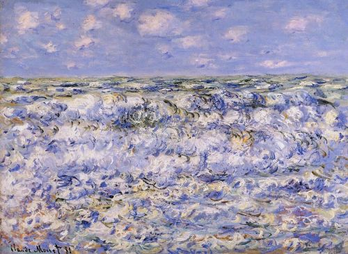 Waves Breaking, 1881 by Claude Monet