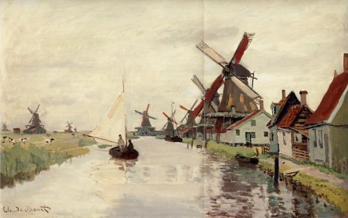 Windmills in Holland, 1871 by Claude Monet