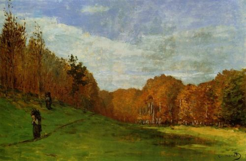 Woodbearers in Fontainebleau Forest, 1863 by Claude Monet