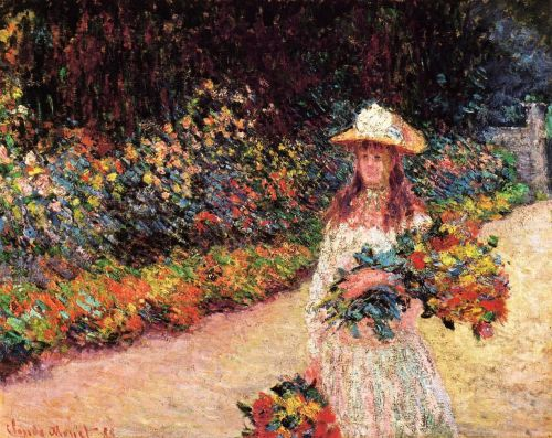 Young Girl in the Garden at Giverny, 1888 by Claude Monet