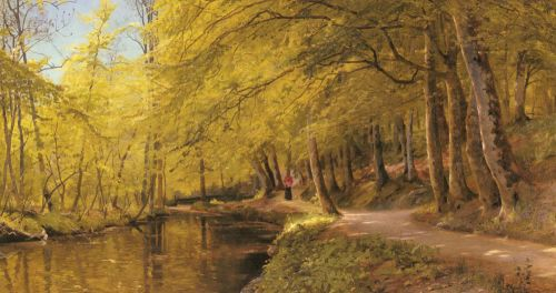 An Afternoon Stroll by Peder Mork Monsted