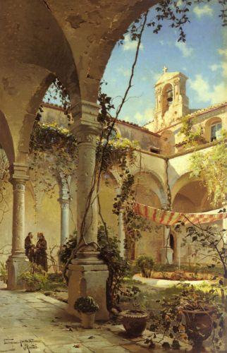 The Cloister, Taormina by Peder Mork Monsted