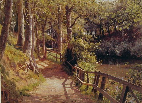 The forest path by Peder Mork Monsted