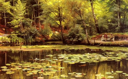 Waterlilies by Peder Mork Monsted