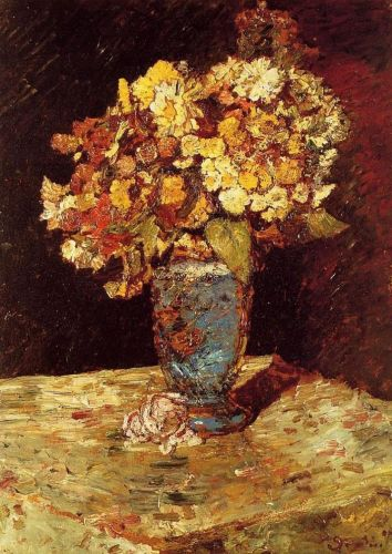 Still Life with Wild and Garden Flowers by Adolphe-Joseph-Thomas Monticelli