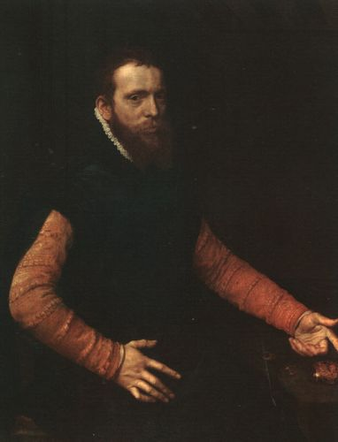 Portrait of a Goldsmith by Anthonis Mor Van Dashorst