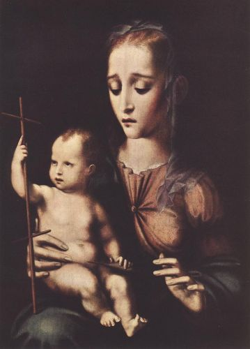Madonna with the Child by Luis de Morales