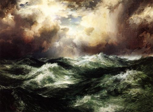 Moonlit Seascape by Thomas Moran