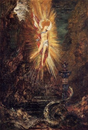 Apollo Vanquishing the Serpent Python by Gustave Moreau