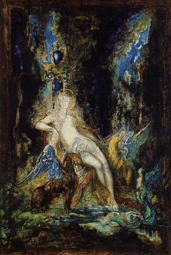 Fairy and Griffon by Gustave Moreau