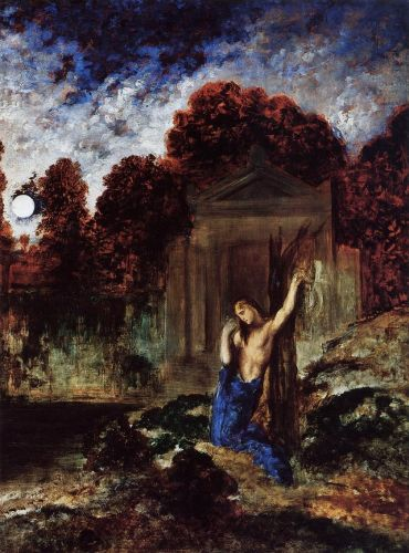 Orpheus at the Tomb of Eurydice by Gustave Moreau