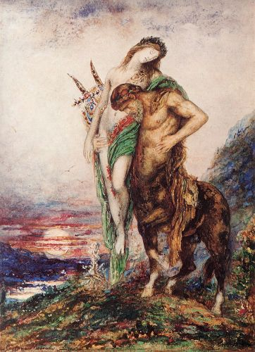The Dead Poet Borne by a Centaur by Gustave Moreau