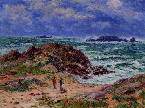 By the Sea in Southern Brittany by Henri Moret
