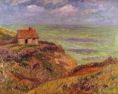 Cliffs of Moelian, Finistere by Henri Moret