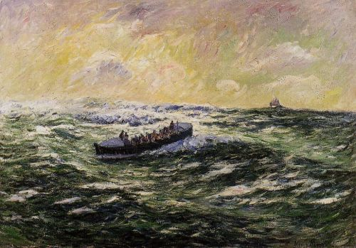 Lifeboat at Audierne by Henri Moret