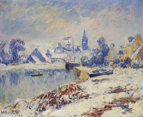 Quimper, Lake Marie in the Snow by Henri Moret