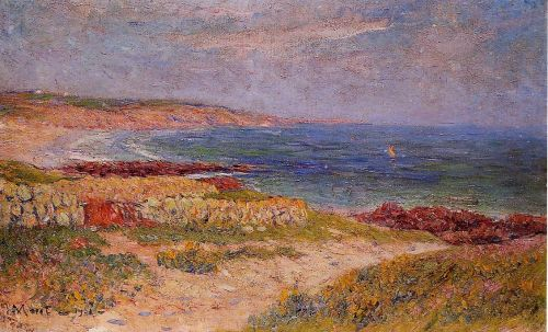 Raguenez Beach, Finistere by Henri Moret