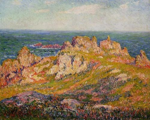 Rocks by the Sea by Henri Moret