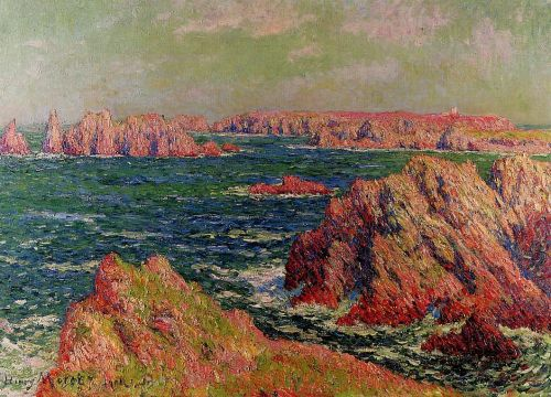 The Cliffs at Belle Ile by Henri Moret