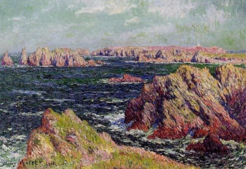 The Cliffs of Belle Ile by Henri Moret