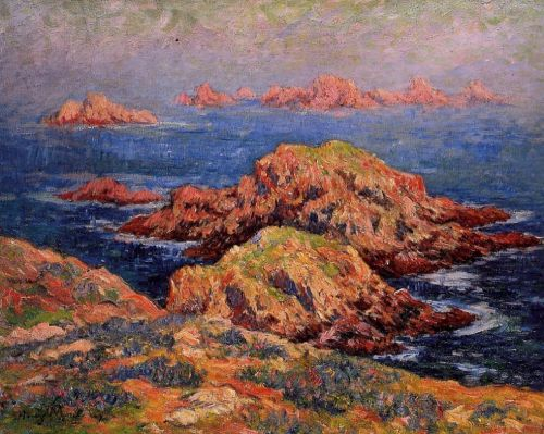 The Red Rocks at Ouessant by Henri Moret