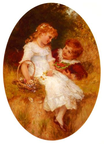 Childhood Sweethearts by Frederick Morgan