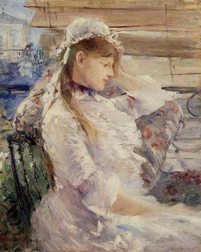 Behind the Blinds, 1879 by Berthe Morisot